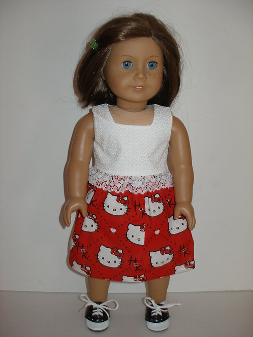 AG Red and White Hello Kitty Skirt Set