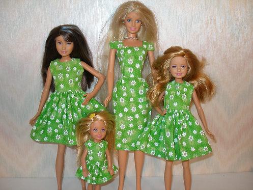 Green Floral Sister Set