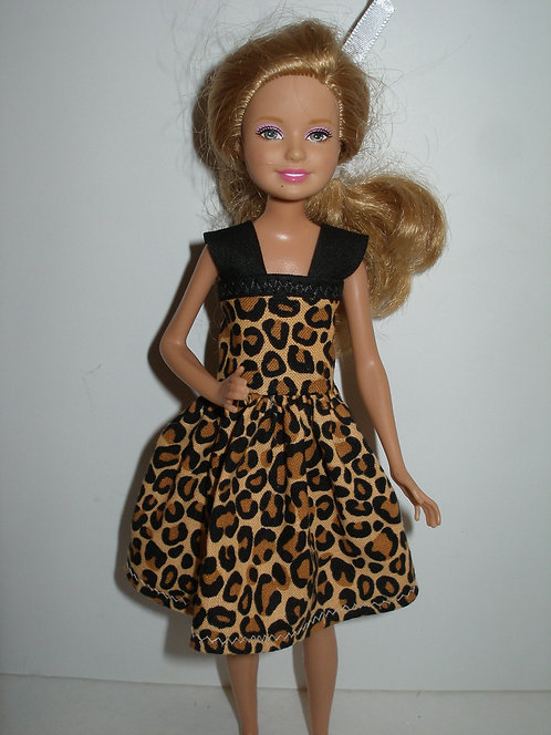 Stacie/Bratz Brown & Black Animal Print Dress
