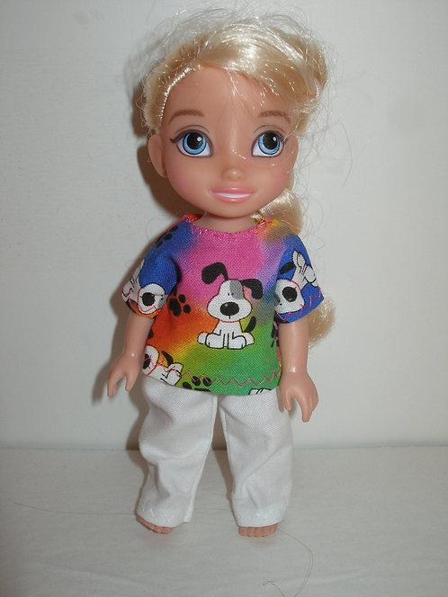 "6"" Princess - Short sleeve Pant Set"