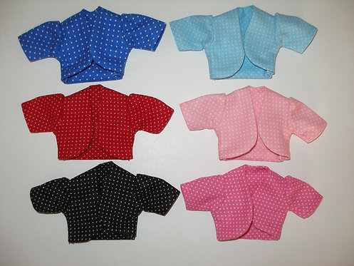 Short Sleeve Dotted Jacket - More Colors
