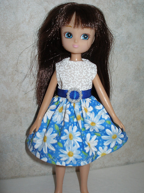 Lottie - Blue and White Daisy Dress