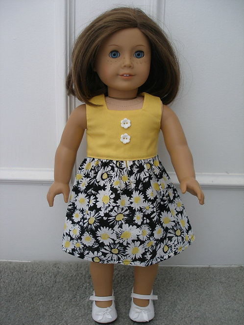 AG Black, Yellow and White Floral Dress w/shoes