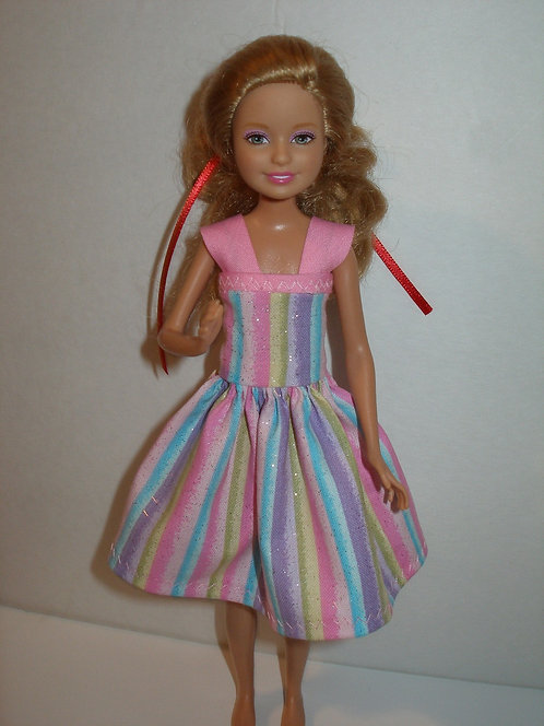 Stacie/Bratz Glittery Pink Stripe Dress