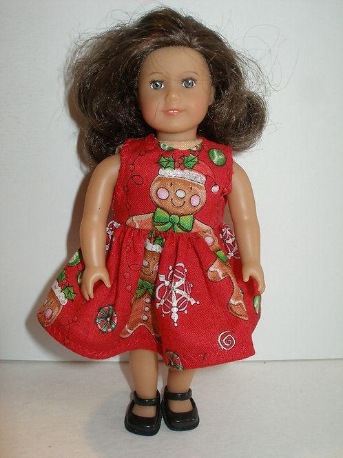 AG Mini - Red Gingerbread Dress