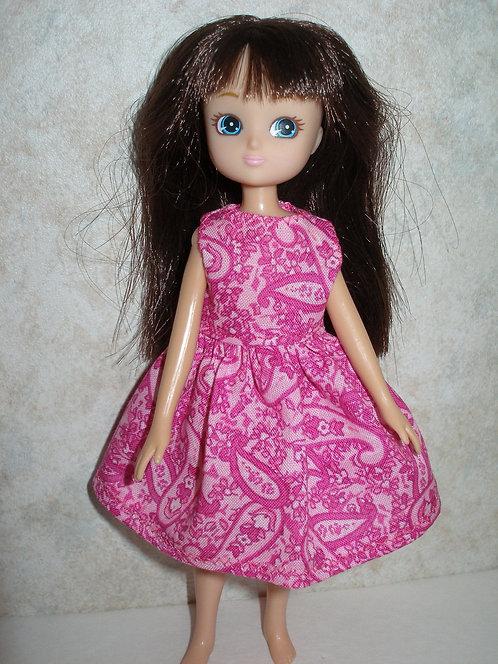 Lottie - Pink Paisley Dress
