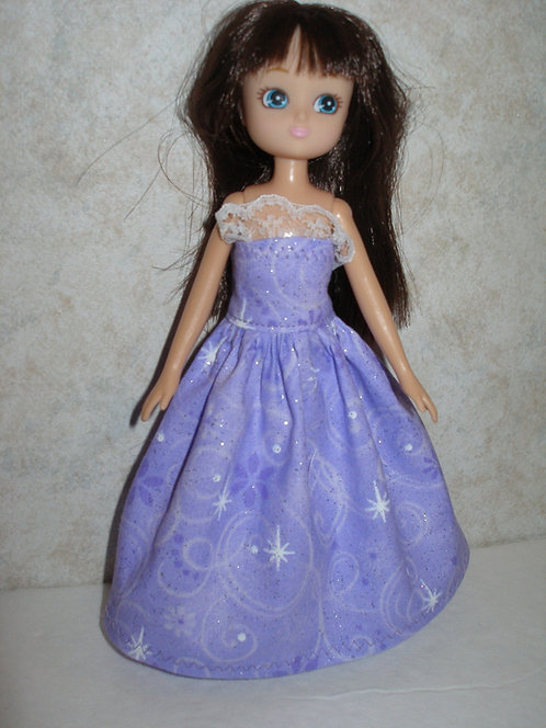 Lottie - Glittery Purple Gown