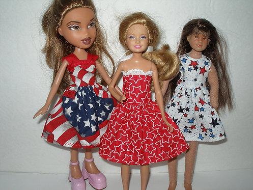 Stacie - Patriotic Print Dress