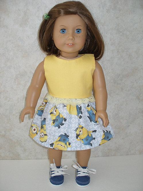 AG Minions Print Skirt Set w/shoes