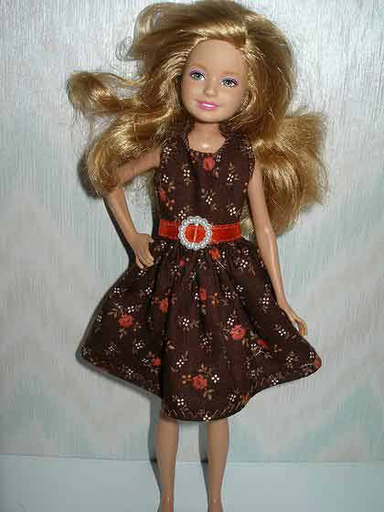 Stacie/Bratz Brown and Orange Floral
