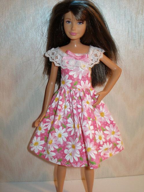 Skipper Pink and White Daisy Dress