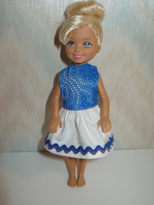 Chelsea Royal Blue and White Dress