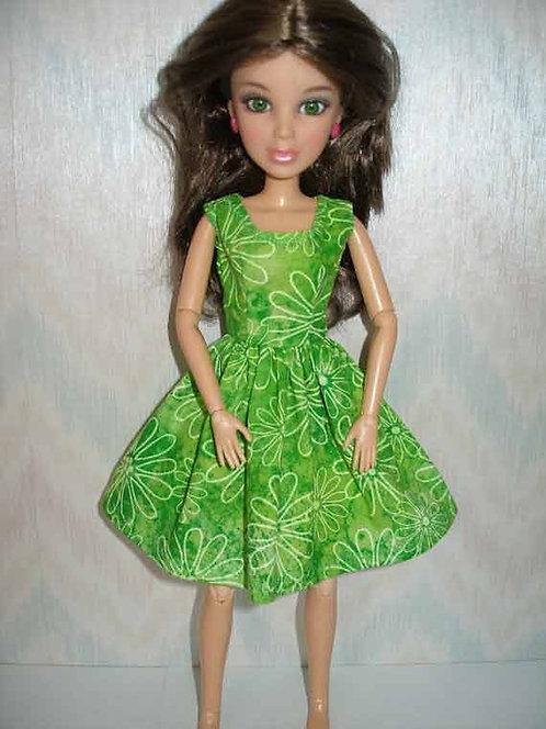 LIV Dress - Green Print