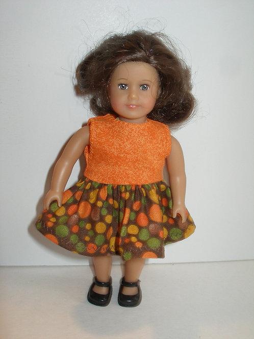 AG Mini - Brown and Orange Dot Dress