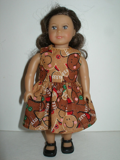 AG Mini - Brown Glittery Gingerbread Dress