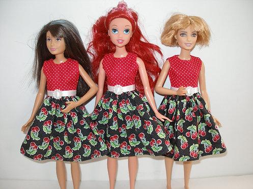 Skipper Black/Red Cherry Dress