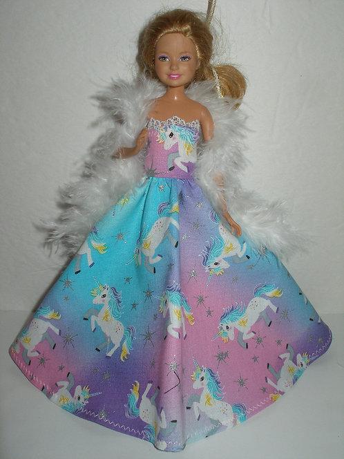 Stacie - Unicorn Gown w/Boa