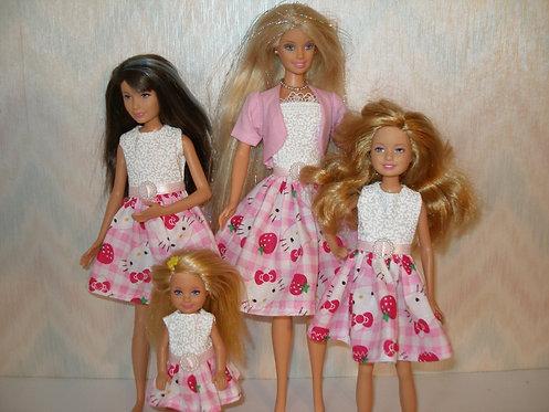 Pink Plaid Hello Kitty Sister Set