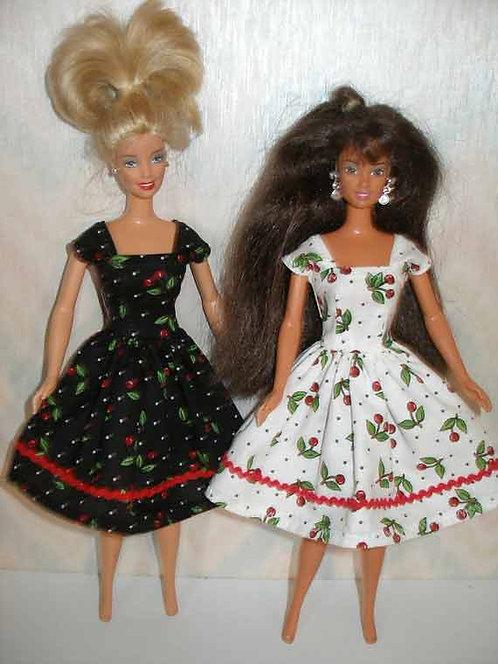 Vintage Style Cherry Print Dress