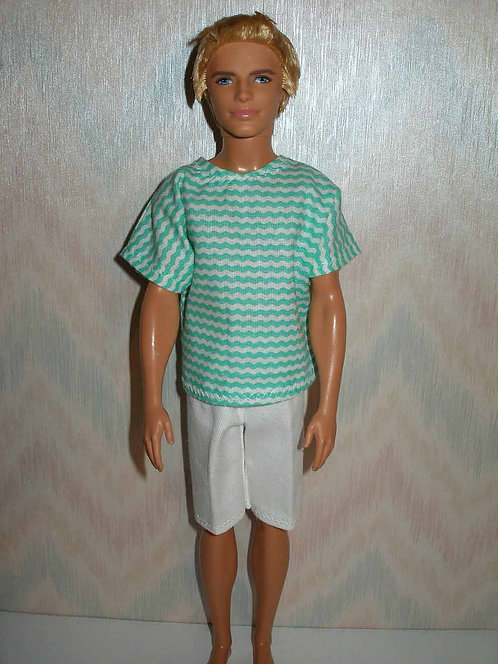 Ken White Shorts Outfit