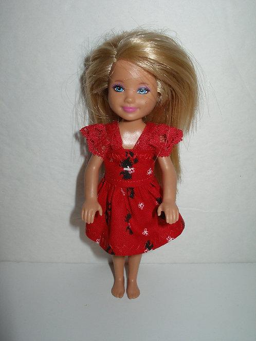 Chelsea - Red/Black Poodle Dress