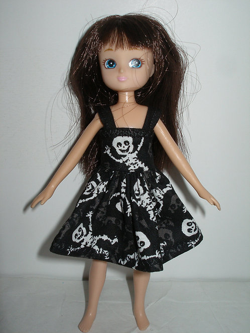 Lottie - Black/White Skeleton Dress