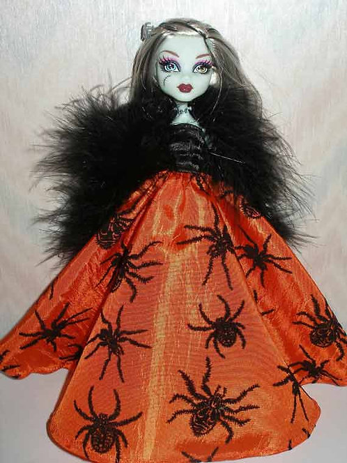 MH & EA Orange and Black Spider Gown