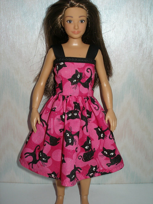 Lammily Pink and Black Cats