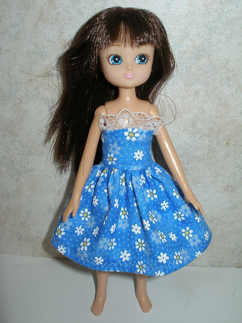 Lottie Blue and White Daisy Dress