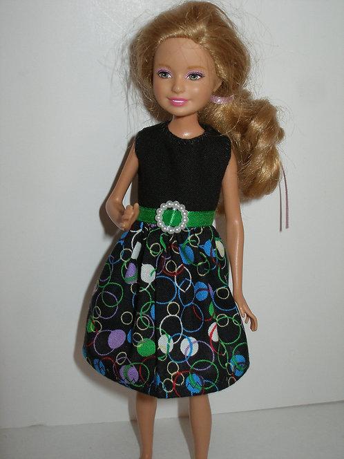 Stacie/Bratz Black w/circles dress