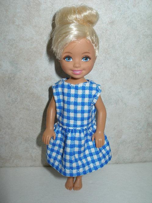 Chelsea - Blue Plaid Dress