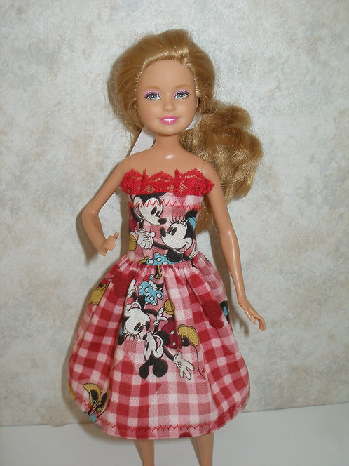 Stacie/Bratz Red Plaid Mickey/Minnie Dress