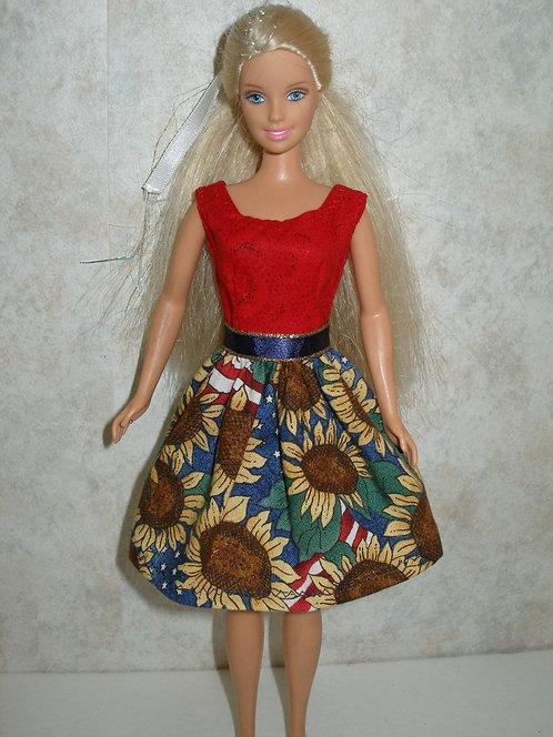 Patriotic Sunflower Dress