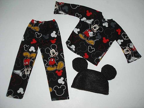 Elf - Mickey print PJ's with Ears
