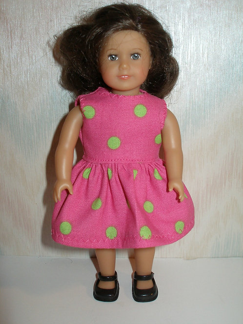 AG Mini - Pink and Green Dot Dress