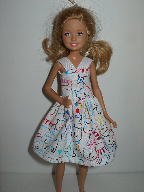 Stacie/Bratz - colorful Sketched Cats Dress