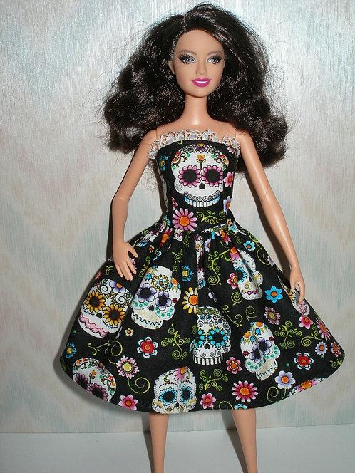 Black and White Sugar Skulls Dress