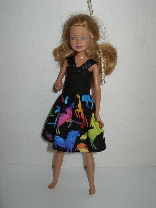 Stacie/Bratz  - Black/multi colored Unicorns Dress