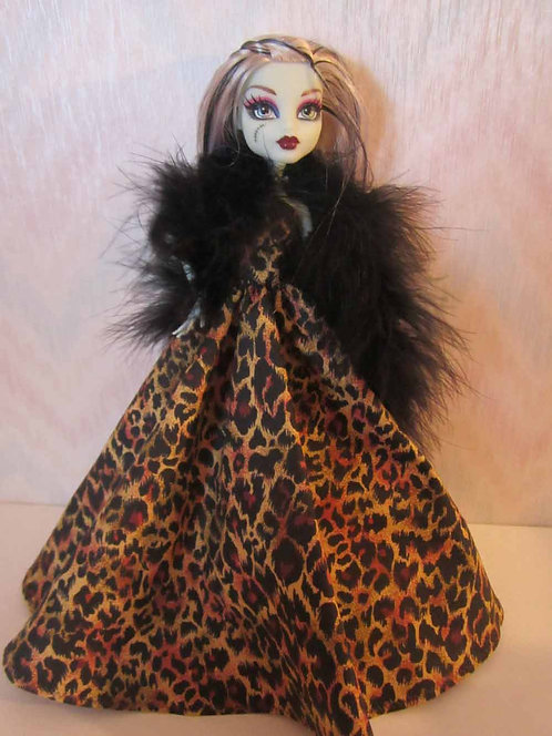 MH Brown Animal Print Gown