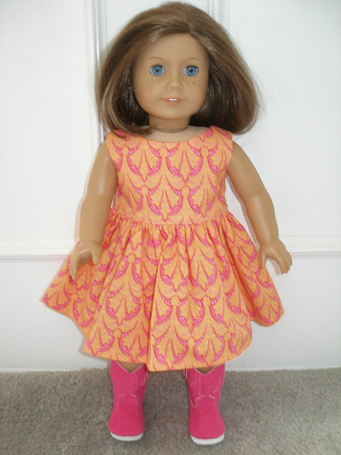 AG Pink & Orange Dress W/Hot Pink Boots