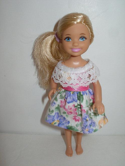 Chelsea - Floral Dress w/lace