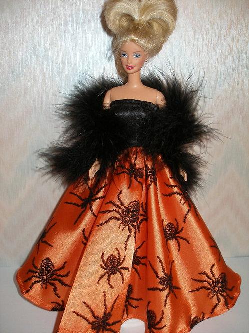 Orange and Black Spider Gown