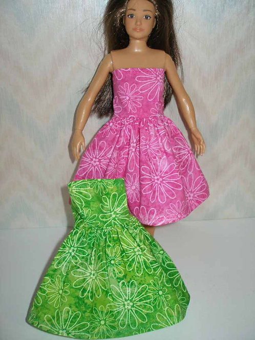 Lammily - Pink or Green Floral Dress