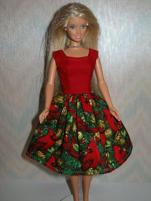Red Bird Holiday Dress