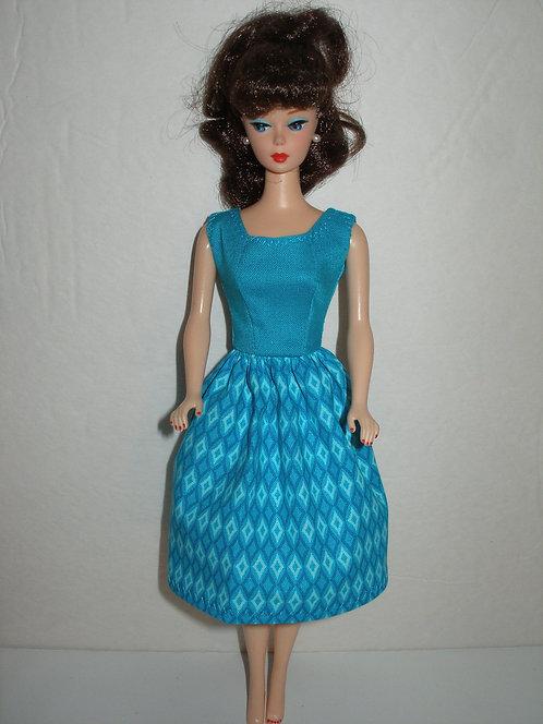 Turquoise Diamonds Dress