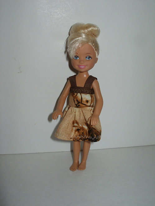 Chelsea - Beige/Brown Horse Dress