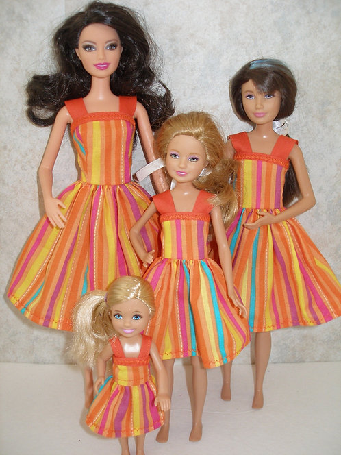 Orange Stripe Sister Set
