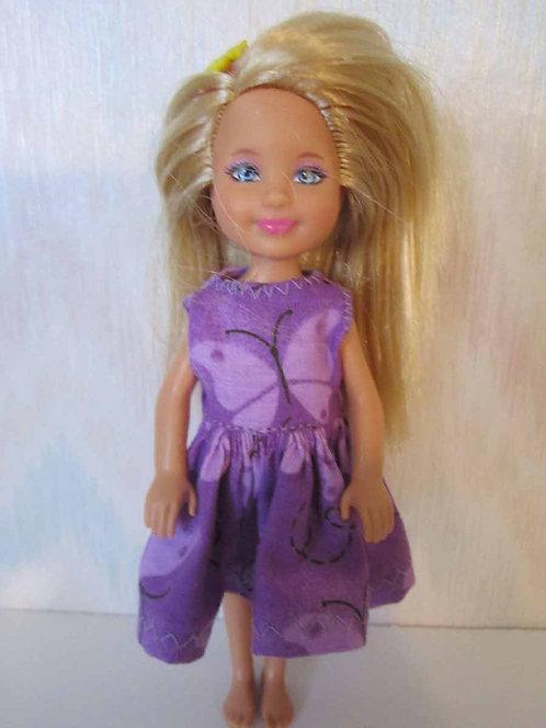 Chelsea Dress Purple Butterfly