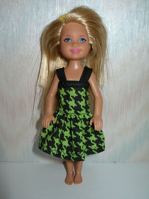 Chelsea Black/Green Houndstooth