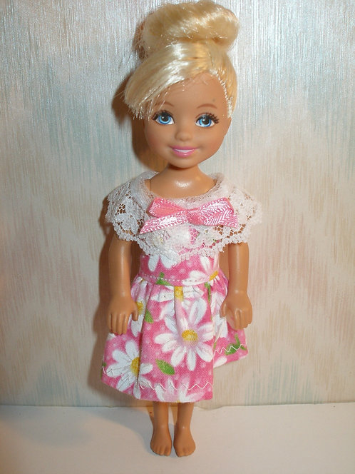 Chelsea - Pink and White Daisy Dress